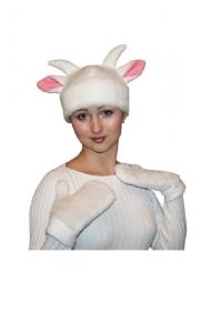 Шапка козы с рукавицами