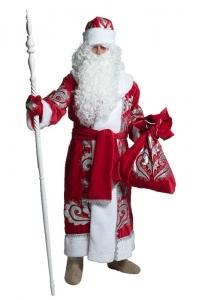 Костюм Деда Мороза натуральный бархат с вышивкой