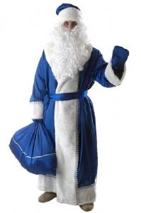 Дед мороз креп-сатин(синий)