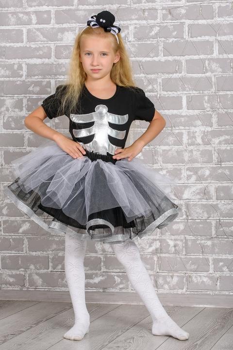 Костюм скелета для девочки
