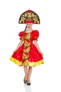 Хохлома для девочки с вышивкой