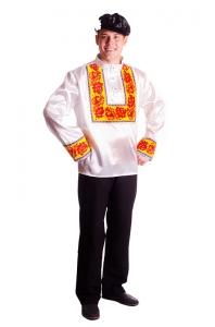 """Костюм """"Хохлома"""" белый мужской"""