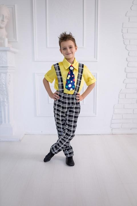 Костюм стиляги для мальчика в желтом