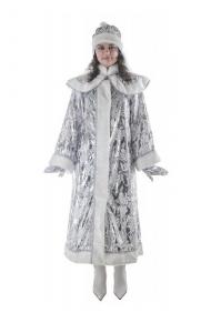 Костюм Снегурочки длинный с пелериной панбархат