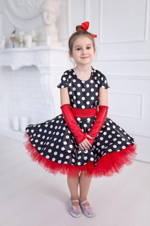 Костюм Стиляга в красном для девочки