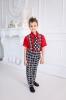 Костюм стиляги для мальчика в красном