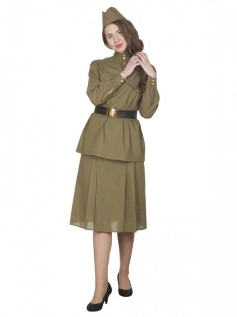 Военный женский костюм
