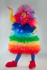 Костюм Фьека разноцветный светящийся
